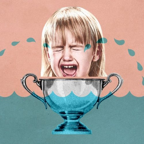 Why Your Business needs SEM graphic with girl crying in silver cup